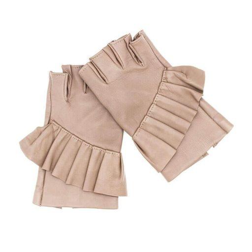 mitones-guantes-elegantes-piel-cuero-Giorno-arena-Armèlle-Spain-1