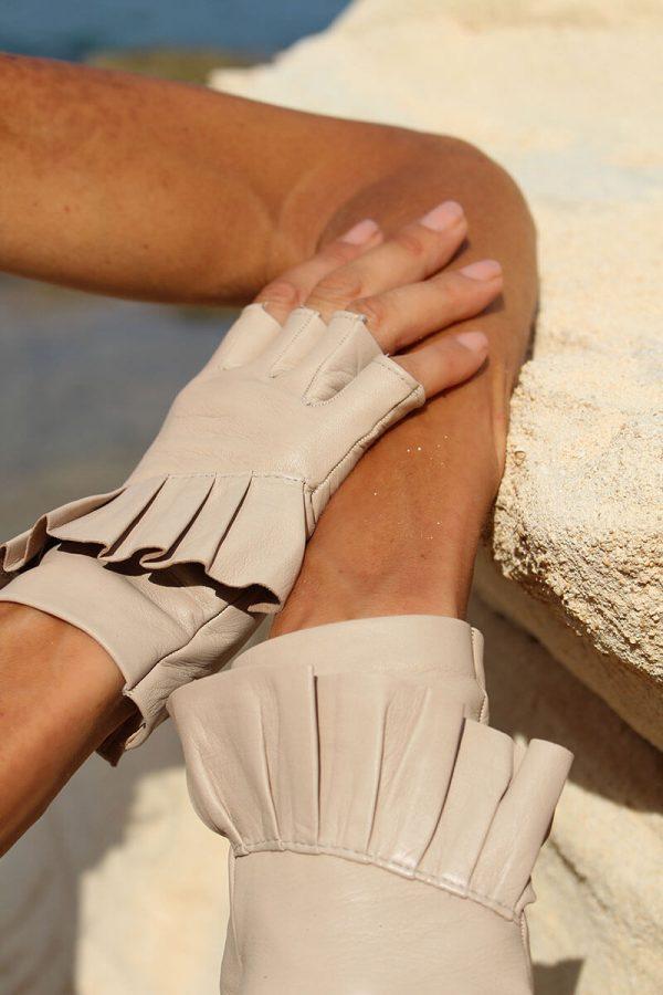 Fingerlose-Handschuhe-Leder-Giorno-arena-Spain-myarmelle-2