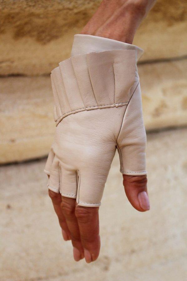 Fingerlose-Handschuhe-Leder-Giorno-arena-Spain-myarmelle-3