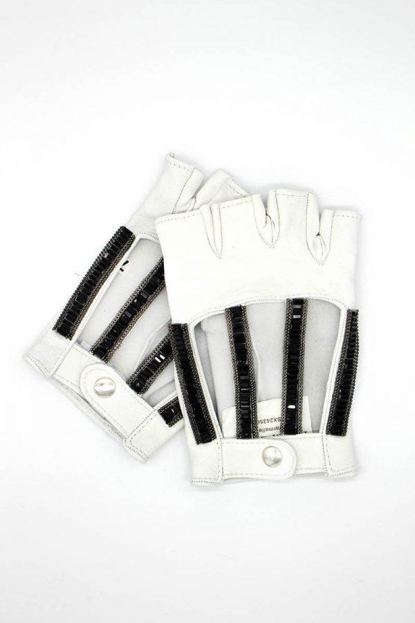 mitones-piel-accesorios-lujo-strass-Luce-blanco-Armèlle-Spain-1