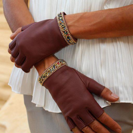mitones-mujer-piel-elegante-cadena-tendencia-Palermo-burdeos-Armèlle-Spain-2