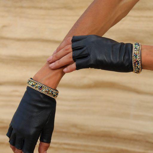 mitones-mujer-piel-elegante-cadena-tendencia-Palermo-negro-Armèlle-Spain-2