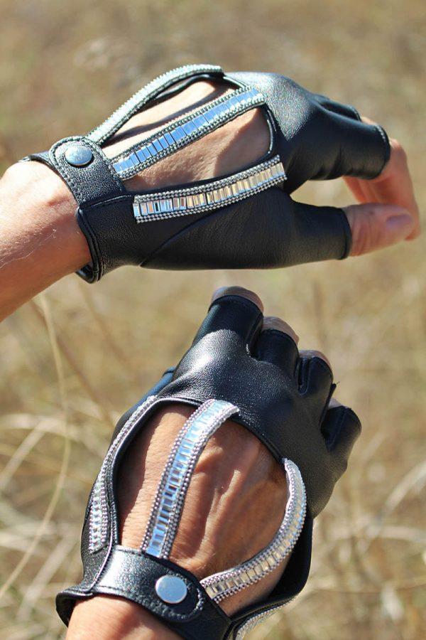 guantes-conducir-elegante-strass-Luce-negro-Armèlle-Spain-3