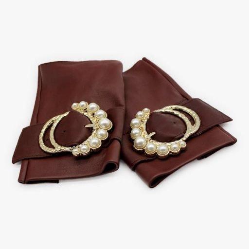 mitones-lujo-cuero-perla-burdeos-hebilla-perlas-Armèlle-Spain-2